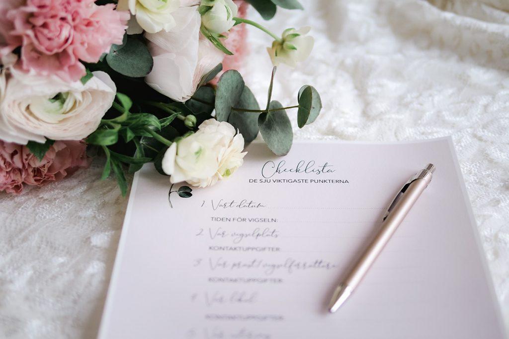 checklista bröllop