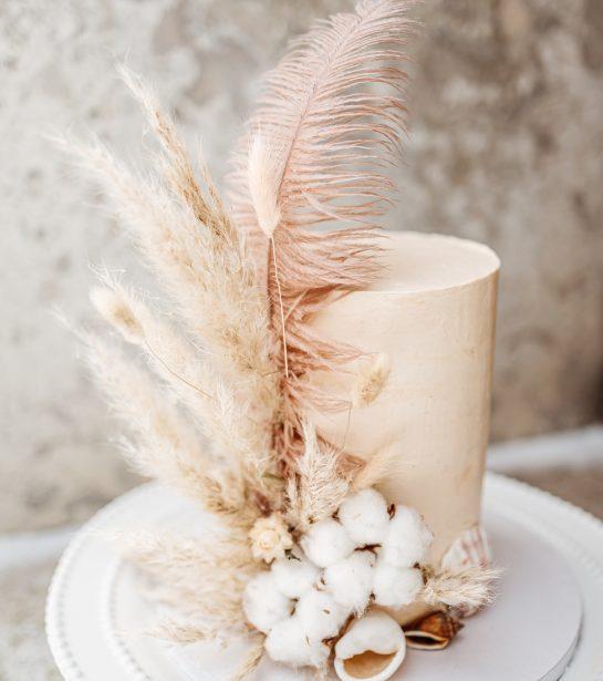 boho wedding cake bröllopstårta